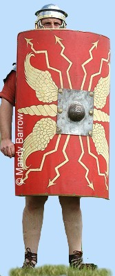Roman Soldier Holding Shield. Picture by Mandy Barrow.