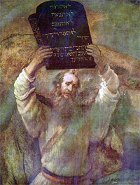 Moses with the Tables of the Law by Rembrandt (1600s)